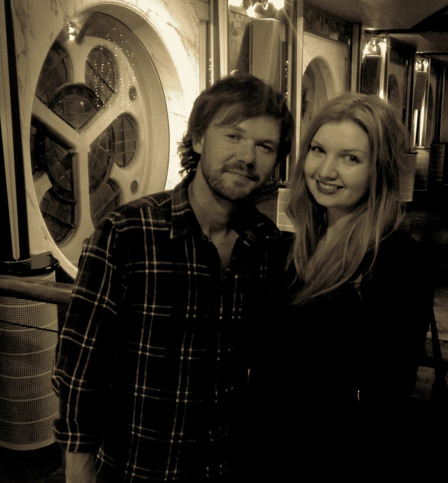 Roddy and myself at his solo show at Glasgow's Oran Mor on September 10th 2014. Fairy lights and good music, the perfect combination.